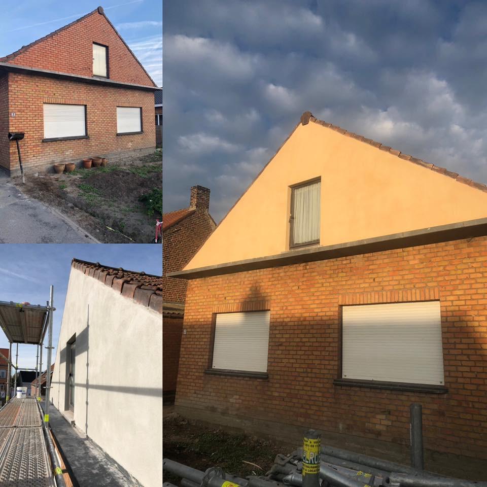 cimentage plafond et mur Gistel